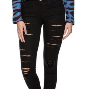 New black flying monkey skinny jeans size 27